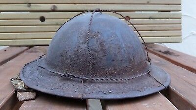 WW2 British helmet with wire