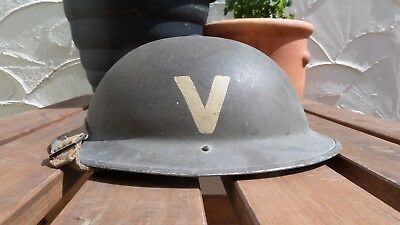 WW2 British helmet with flash