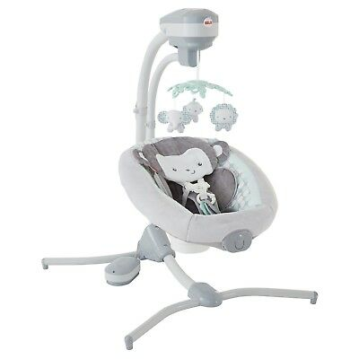 Fisher-Price Sweet Surroundings Monkey Cradle N' Swing - NEW