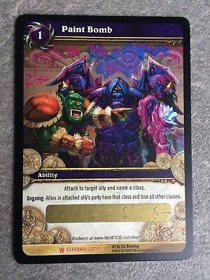 """World of Warcraft WoW TCG Loot Karte """"Paint Bomb"""" / """"Farbbombe"""" -UNSCRATCHED"""
