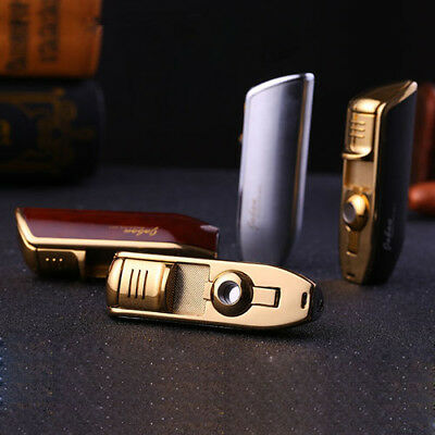 4 PCS Triple Jet Flame Cigarette Cigar Butane Torch Windproof Refillable Lighter