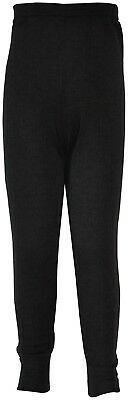(3-5 Years) - Boys Childrens Thermal Long Johns Charcoal Grey (3-5 Years). AK