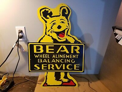 Bear Wheel Alignment BaIancing Service Sign ...gas oil gasoline ...design 2 of 2