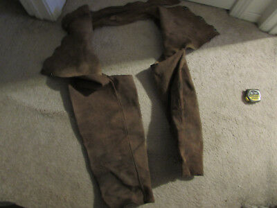 Used leather welding Cape Jacket Sleeves Shipping included N Texas