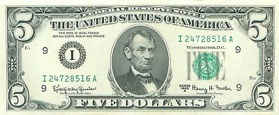 1963 series A I/A (MINNEAPOLIS) $5 Five Dollar FRN Note Bill US Currency