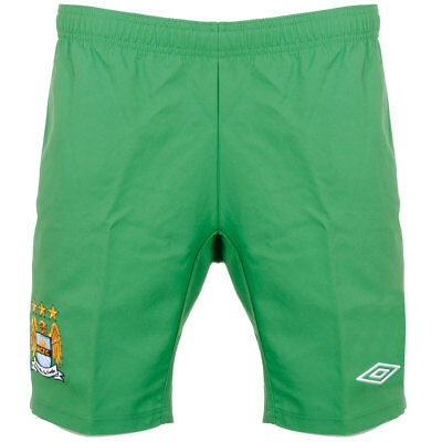 Mens Manchester City 2010/11 Green FC Home Goalkeeper Football Shorts Size