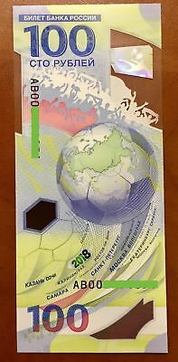 5x100/% Original 100RUBLES AA Russia FIFA 2018 World Cup Polymer UNC FROM bundle