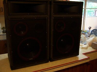 2  x  PROFESSIONAL - 3 WAY(12 inch) - PA-SPEAKERS (as new)