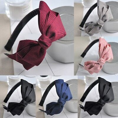 Women Girls Bow Knot Headband Twist Hairband Headwear Hair Band Chic Hoop Solid