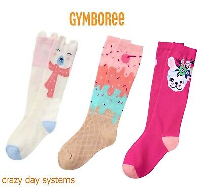 FREE US SHIPPING Gymboree Girls Ribbed Knee High Socks Choice of Pattern NEW