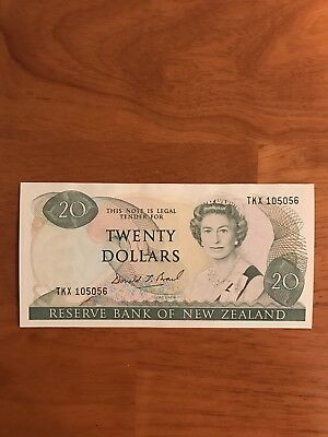 New Zealand ND 1989-92 20 Dollars P-173c> UNC