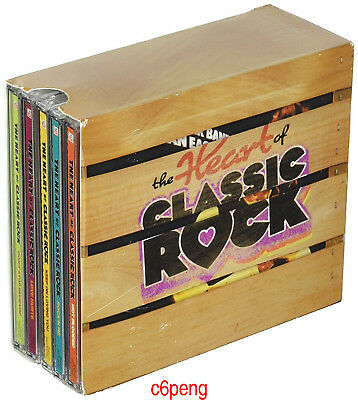 "Various ArtistsCD""The Heart of Classic Rock""10CD Box Set Time Life Free shipping"