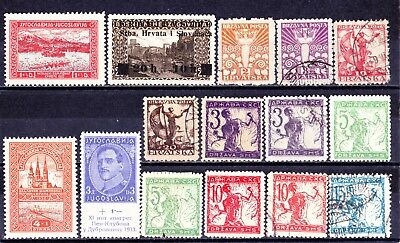 YUGOSLAVIA 1919-33 Collection  of Mint/MNH/ & Used 3 Scans.