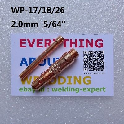 "2.0mm 5/64"" Collet and Collet Body for Tig Torch WP-17/18/26"