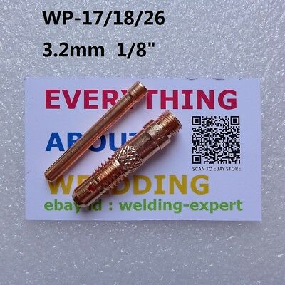 "3.2mm 1/8"" Collet and Collet Body for Tig Torch WP-17/18/26"
