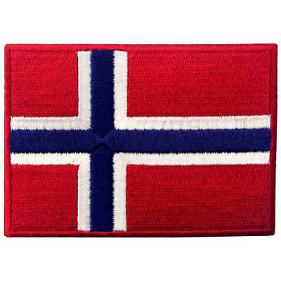 Embroidered patches Iron Sew On patch badges Appliques Emblem Nation Norway Flag