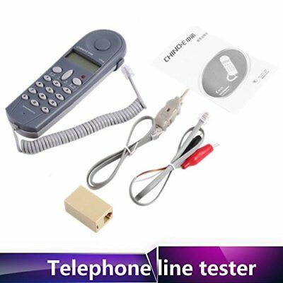 1-20X Telephone Butt Test Tester Lineman Tool Cable Set w/ Connectors &Joiner TF
