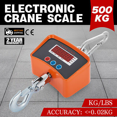 500KG/1100LBS Digital Crane Scale Heavy Duty Industrial Hanging with LED Display