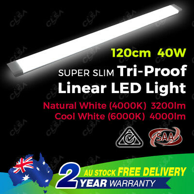 New 40W 4Ft 1200Mm Slim Led Batten Light Replace T8 Fluorescent Tube Fitting