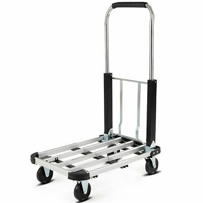 Platform Truck 330 LBS Capacity Folding Hand Truck Cart Extendable Heavy Duty