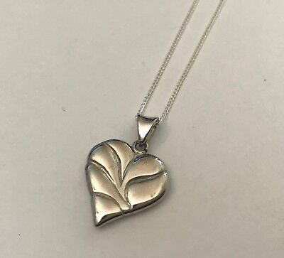 5 x Sterling Silver Heart Pendants with Chains