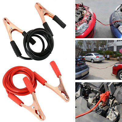 Jumper Cables 11.5' Feet Long 2-Gauge 500 AMP Motorcycle / Car Booster Cables