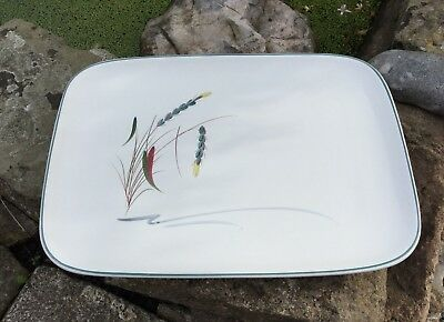 Denby Greenwheat Tray/ Platter Signed A College Vintage 1970s Stoneware