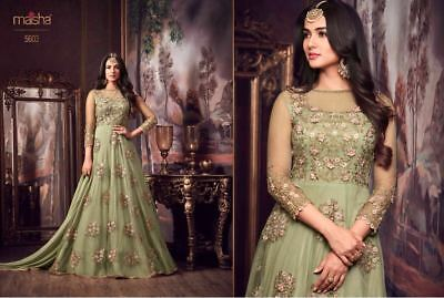 Indian Bollywood Wedding New Designer Long Anarkali Dress EID Special Look 5603