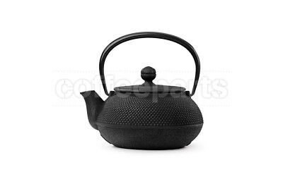 NEW Black 650ml Hobnail Cast Iron Teapot