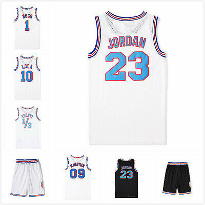 Space Jam Tune Squad #1 Bugs Bunny Retro Basketball Jersey