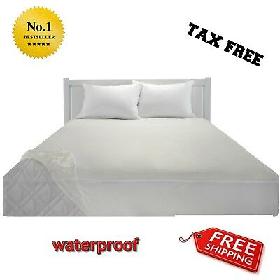 NEW, King Size,Waterproof Fitted Vinyl Mattress Protector,Bed Cover