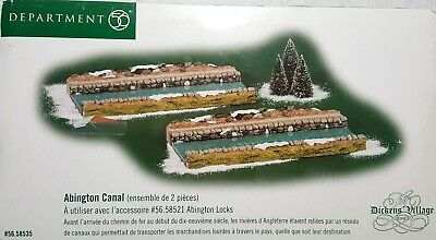 Dept. 56 Dickens' Village Series Retired Abington Canal #58535 in Box