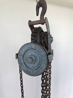 Worm Gear Chain Pulley Block / Hoist ~ Abc Melbourne ~ Tested To ½ Ton ~ Antique