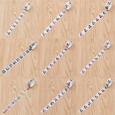 BTS Paper Masking Washi Tape DIY Scrapbooking Stickers Diary Album KPOP Crafts