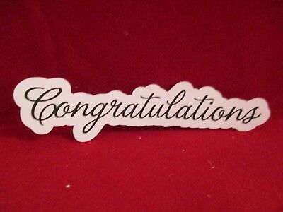 12 Printed Congratulation Sentiment Die Cuts.............cardmaking