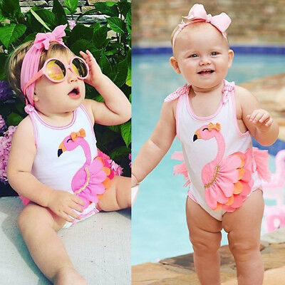 AU Newborn Toddler Baby Girl Flamingo Romper Jumpsuit Outfits Tutu Dress Clothes
