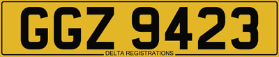 GGZ 9423 - Dateless Number Plate - Horses, Gee Gees, Horsebox, Horse Trailer Box