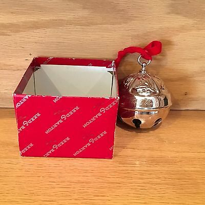 REED & BARTON 1992 Holly Bell 17th Anniversary Christmas Ornament