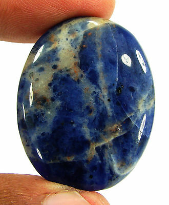 38.85 Ct Natural Blue Sodalite Loose Gemstone Beautiful Cabochon Stone - 16662