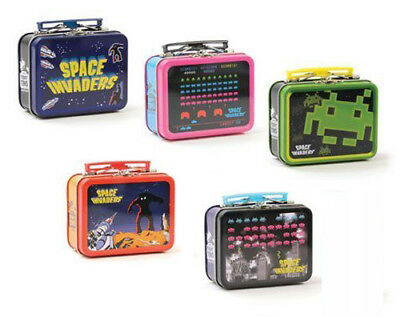 Licensed Space Invaders Teeny Tins Lot of 5 Lunch Boxes Coop Original NEW SEALED