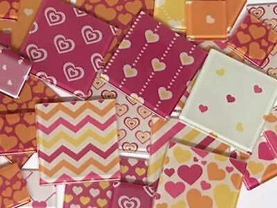 Summer Love Themed Handmade Mosaic Tile Set | Mosaic Art Craft Supplies