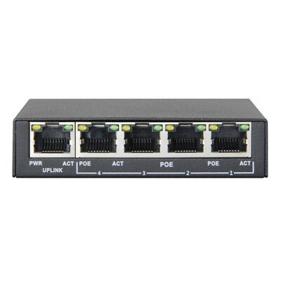 Jovision PS04 - PoE-Switch, 4x RJ45-Ports
