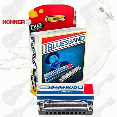 Hohner Blues Band Harmonica In Box Case **Select Your Key** Great For Beginners