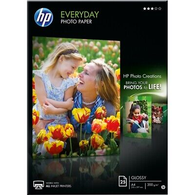 HP Everyday (A4) Glossy Photo Paper (25 Sheets) 200gsm (White)