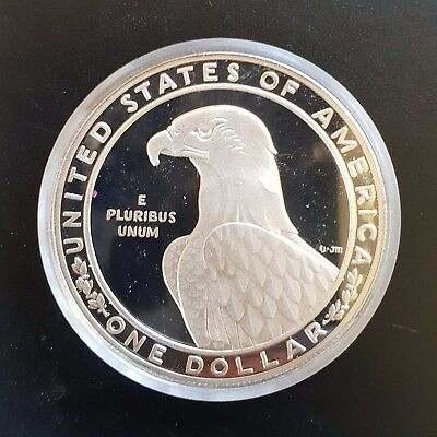 1983-S United States One Dollar $1 Olympic Games Silver PROOF Coin...