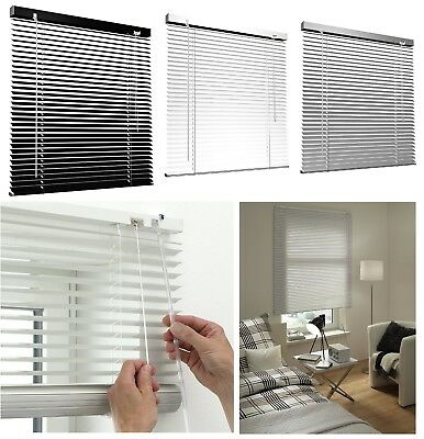 Aluminium Venetian Blind Window Blinds Silver Black White Colour 25Mm Slats