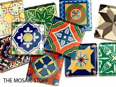 Spanish Inspired Handmade Glass Mosaic Tiles 2.5cm Mix 1 - Art Craft Supplies
