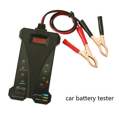 Car Van Motorcycle Battery Charging System Tester Analyzer Diagnostic A7H