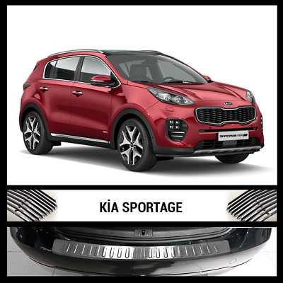 New KIA SPORTAGE Rear Bumper Chrome Cover / Protector Stainless Steel 2015 >