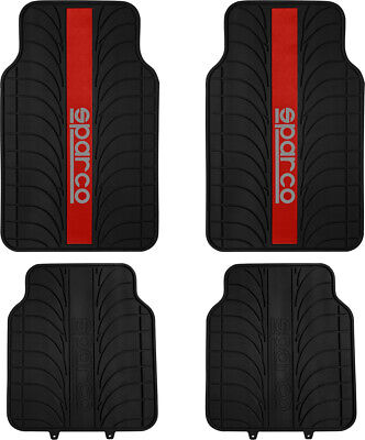Set 4 Pz Tappeti In Pvc Sparco Red Line Sparco